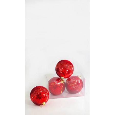Bolas x 2 rojas brillo...