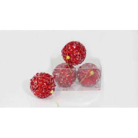 Bolas x 2 navidad rojas...
