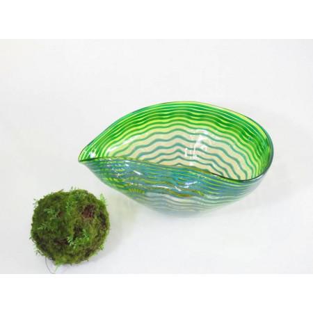 Centro cristal verde azul...