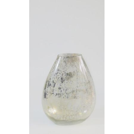 Florero cristal gota plata...