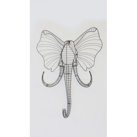 Placa elefante metal gde...