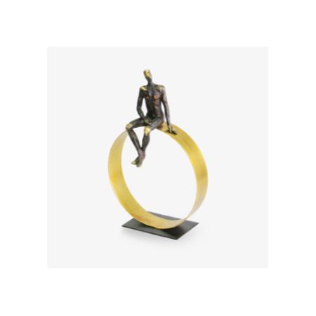 Escultura hombre rueda d la...