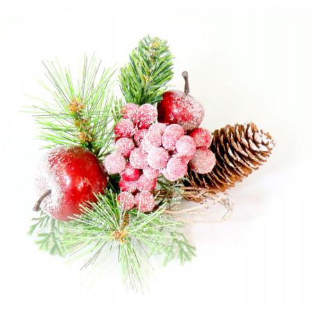 Pin Frutos Rojos Nevado 20x15