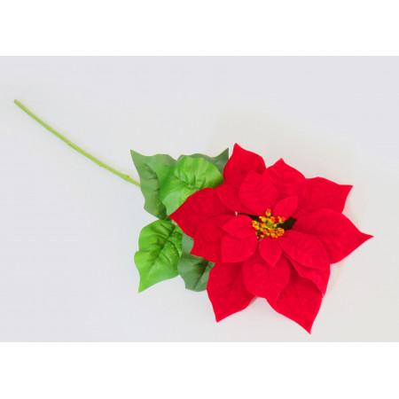 Ponsettia Roja Gamuza 68x25cmt